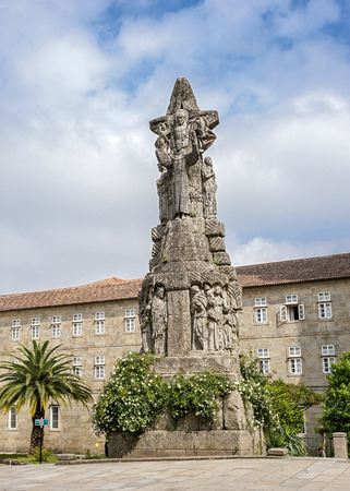 st  francis: Spain, Santiago de Compostela . Monastery of St. Francis and a monument to its founder St. Francis of Assisi .