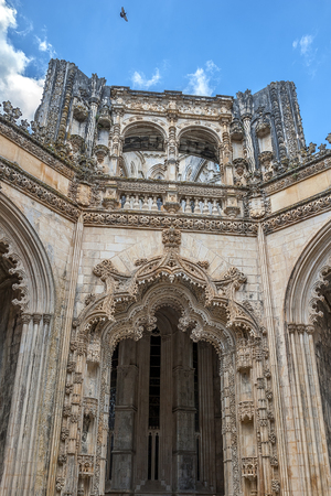 Portugal, Batalha. Monastery of Santa Maria da Vitoria , and better known to us all as da Batalha Monastery,  one of the most beautiful works of Portuguese and European architecture, as well as one of the most important monuments of the Portuguese Gothic.