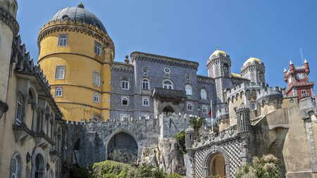 Pena Palace - Palace in Portugal, located on a high cliff above Sintra and offers a fantastic pseudomedieval style.