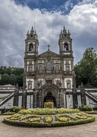 Portugal , Braga . Church Bom Jesus do Monte is built in neoclassical style . Editorial