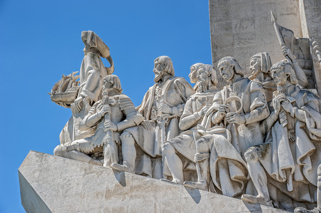 Portugal, Lisbon. Monument to the Discoveries - the monumental ensemble in Lisbon , dedicated to the outstanding figures of the Portuguese Age of Discovery