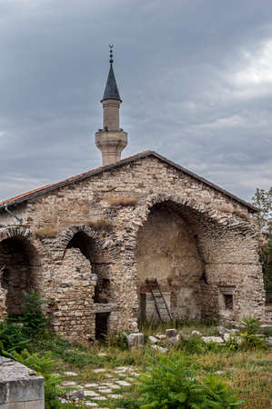 Russia, the Crimean peninsula. Khan Uzbek Mosque - an architectural monument of the fourteenth century in the town of Stary Krym. It is the oldest surviving mosque peninsula. Stock Photo