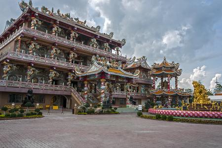 Thailand, Ang Sila village near Pattaya. Chinese monastery and temple of Wat Thep Phuttharam. Stock Photo