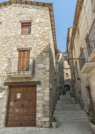 Spain, Catalonia , Girona,  Besalu. The first mention of the castle Besalu , around which the town was formed , refer to the X century . The stone streets of the ancient city. Editorial
