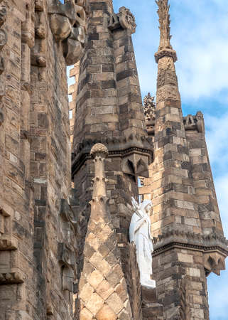 sagrada: Sculptural group of biblical themes in the facade of the cathedral .