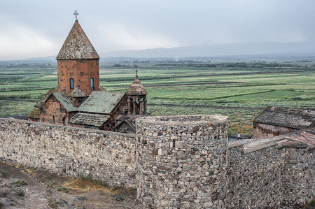 Khor Virap ( the deep dungeon) is an Armenian monastery, located near the border with Turkey. The monastery is known for its location at the foot of the biblical mountain Ararat.
