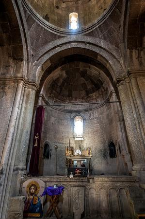 Armenia, the monastery complex Goshavank. The interior of the church Grigor Lusavorich.