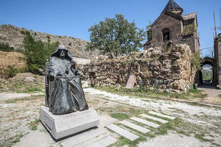 Armenia. The monastery complex Goshavank. Monument to the founder of the monastery Mkhitar Gosh.