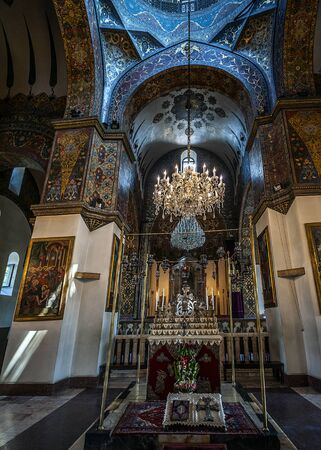 Armenia, the interior of the Etchmiadzin Cathedral - Editorial