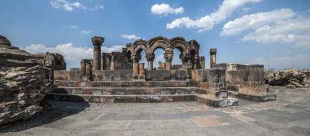 Armenia. The restored ruins of the temple of Zvarnots (the Temple of Vigilant Angels), built in the seventh century.