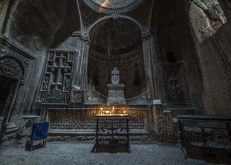 Armenia, the monastery complex of Geghard is called the monastery of the seven churches and forty altars. This is one of them. Editorial