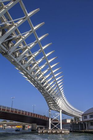 Italy, Venice. Monorail (original name of the People Mover) between Piazzale Roma and the Venice cruise port.
