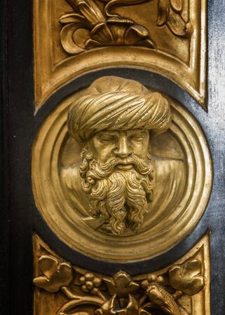 Italy, Florence. Bronze, gilt-coated doors of the Baptistery of San Giovanni -