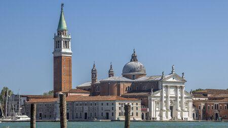 Northen Italy.San Giorgio Maggiore is a 16th-century Benedictine church on the island of the same name in Venice Stock Photo