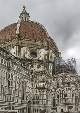 Italy. The Cathedral of Santa Maria del Fiore in Florence, the most famous of the architectural structures of the Florentine Quattrocento. Located in the heart of the city, on Cathedral Square.