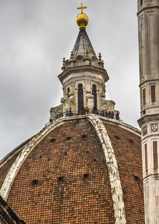 Italy. Cathedral of Santa Maria del Fiore - the cathedral in Florence, the most famous of the architectural structures of the Florentine Quattrocento. Located in the heart of the city.