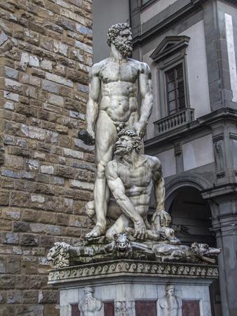 Italy. Piazza della Signoria - the square in front of the Palazzo Vecchio in Florence. The sculptural group