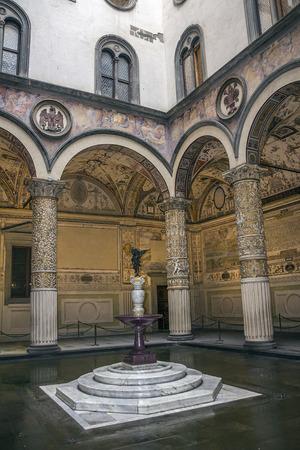 Italy, Florence. Piazza della Signoria, Palazzo Vecchio. The courtyard of the palace (atrium).