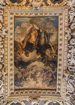 Italy, Venice. It has been made by Veronese, Tintoretto and Bassano.