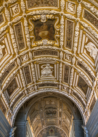 Italy, Venice. Doges Palace, the Golden Staircase, a continuation of the Stairs of the Giants, architect Jacopo Sansovino.