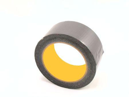 duct: rodillo de la cinta gris del conducto Foto de archivo
