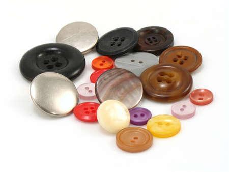 異なったサイズ、形および色のボタン 写真素材 - 402955