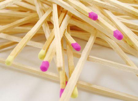 jumbled stack of matches Stock fotó