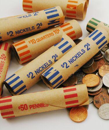 coin wrappers Zdjęcie Seryjne