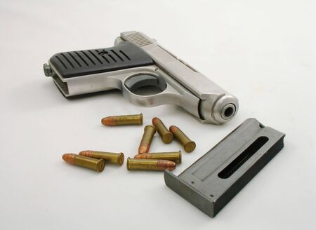 small pistol with bullets 版權商用圖片