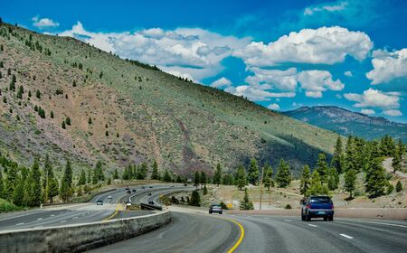 drove: The High way in California when I drove from Lake Tahoe to Reno