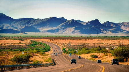 on the way from Sierra vista to Tucson in Arizona, USA