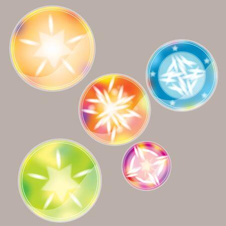 Multi-color ball stickers