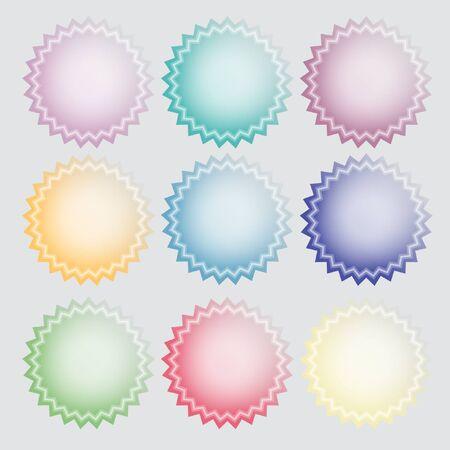 Star-shaped label stickers Illustration