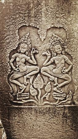 apsara: Apsara on the wall