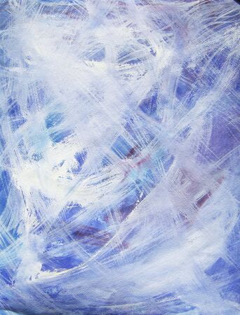 Blue, white, purple and red are the main colors of this happy, acrylic art painting.