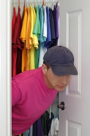homosexuales: Mayores hombre gay que sale del armario.
