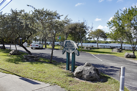 north hollywood: Hollywood, FL, USA - December 7, 2014: Near North Ocean Drive and Green Street this park views the adjoining Intracoastal Waterway. Hollywood North Beach Park, FL