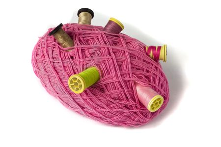 close-up shot of a skein and bobbins Stock Photo - 5823712