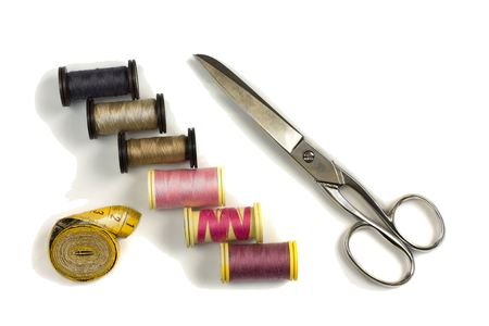close-up shot of a sewing kit Stock Photo - 5823709