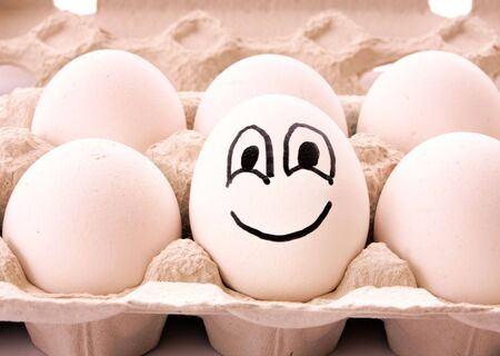 Different egg with smile photo