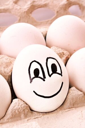 Different egg with smile Stock Photo - 5472730