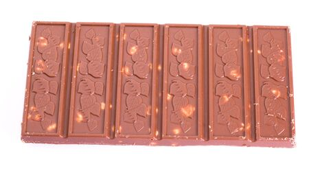 Chocolate with nuts photo