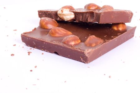 Chocolat with nuts photo