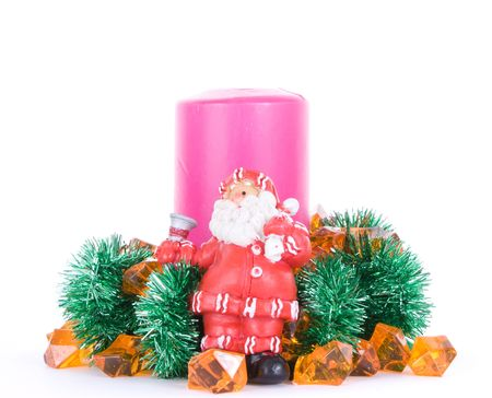 Santa Clause new year composition Stock Photo - 6190543