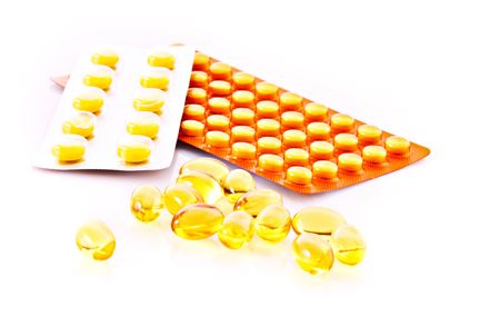 medication isolated on a white Stock Photo - 6411117