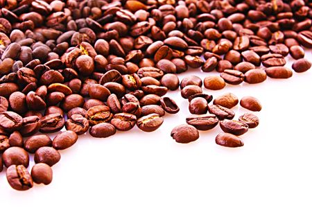 Coffee beans background Stock Photo - 6411116