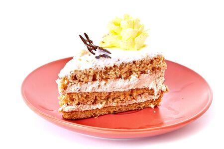 Cake isolated on white photo