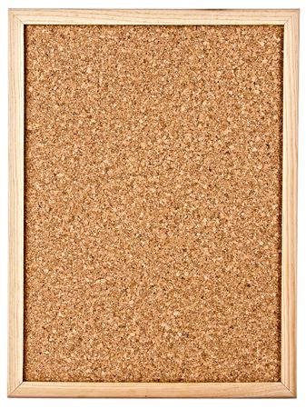 corkboard isolated on white Stock Photo - 6579797