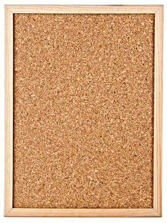 corkboard isolated on white