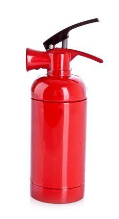 fire extinguisher isolated on white photo